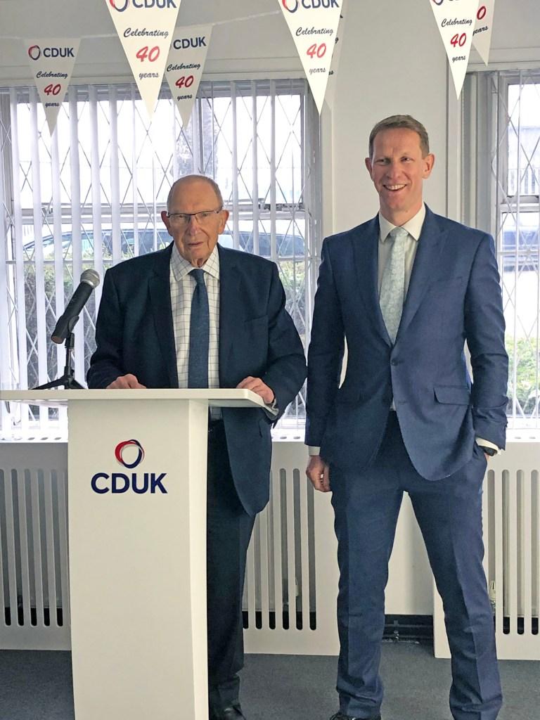 Geoff Baker, Chairman CD (UK) Ltd, Gary Baker, MD CD (UK) Ltd.
