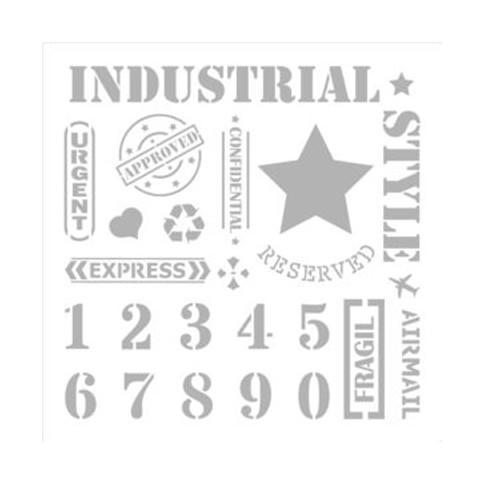 Pochoir N 9 Style Industriel