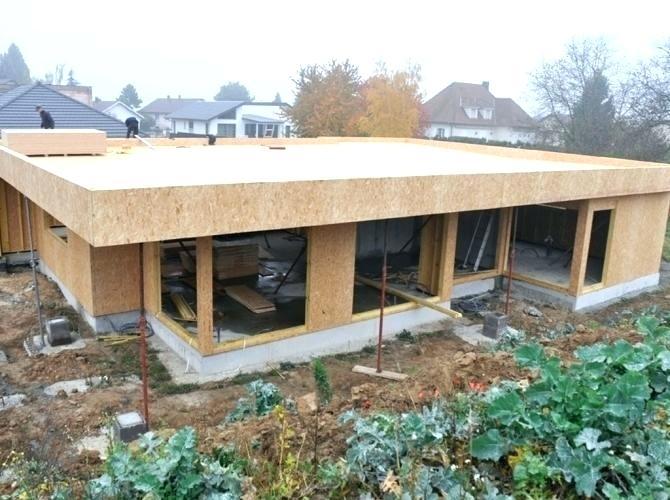 maison ossature bois plain pied toit plat