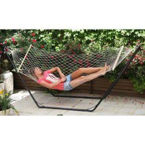 Amaca singola a rete con asse in legno cm 80x200 per esterno vendita online
