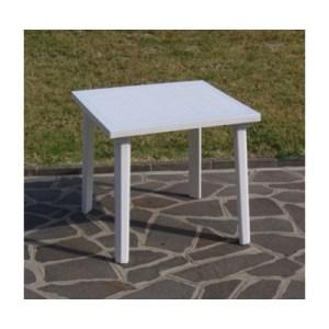 tavolo in resina antiurto bianco 80x80