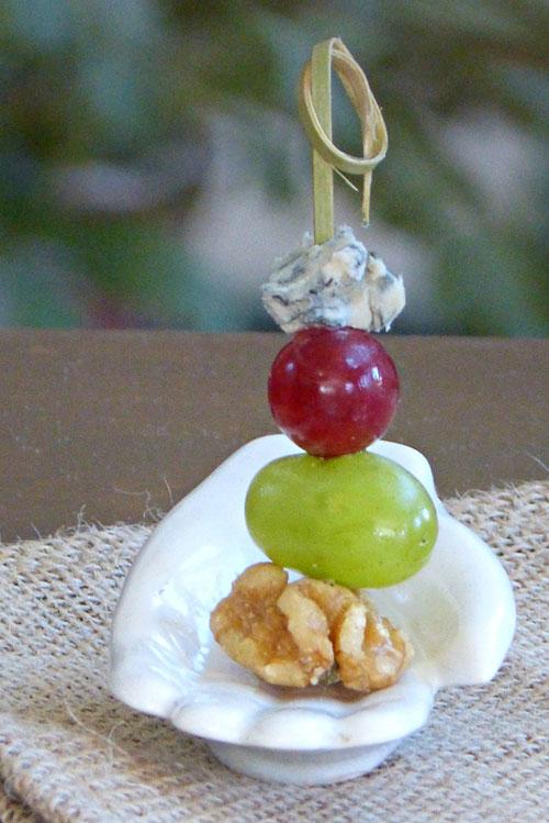 canapé de uva para Nochevieja