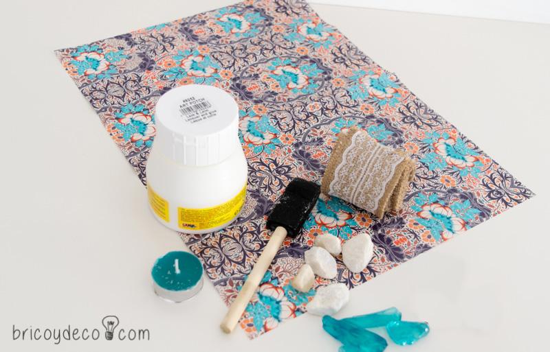materiales para decorar un centro de mesa