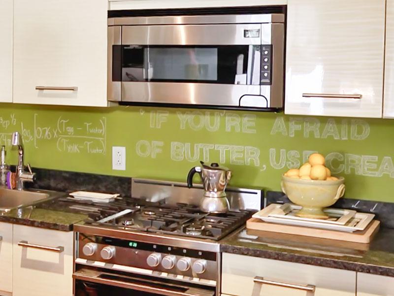 pintura pizarra para decorar la cocina