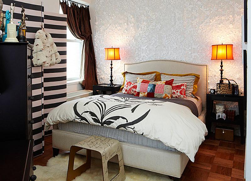 como decorar el dormitorio de un apartamento de alquiler