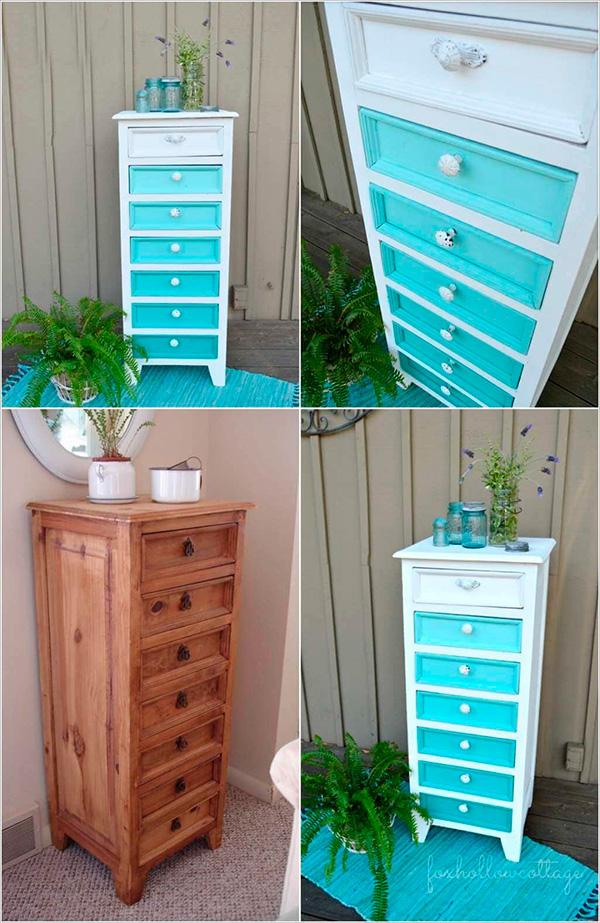 Renovar una cómoda con un degradado de colores