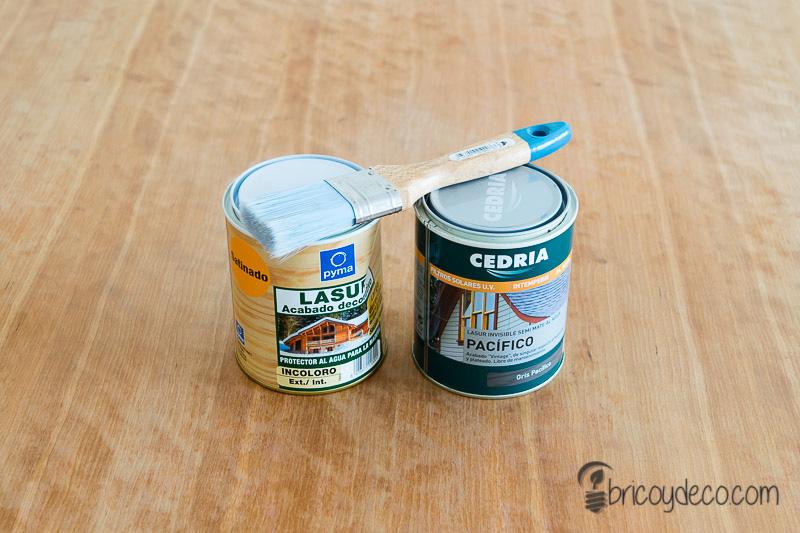 renovar una mesa con lasur