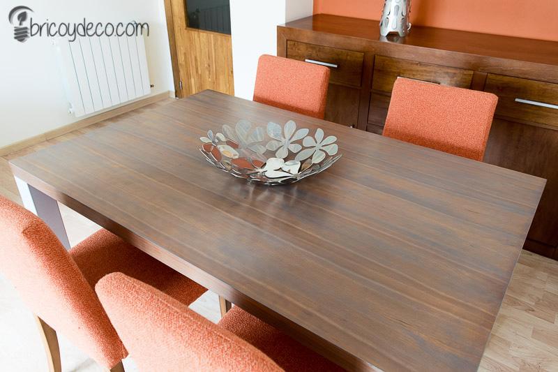 cómo renovar una mesa con lasur
