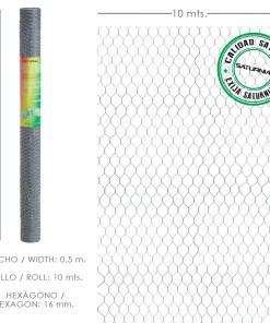 Enrejado Triple Torsion 16 / Ancho 50 cm. Rollo 10 Metros Uso Domestico