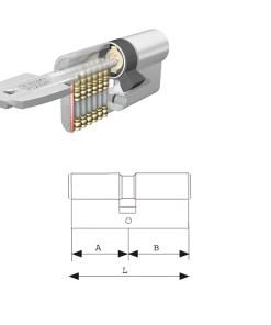 Cilindro Tesa Seguridad T60 /30x40 Niquelado leva corta