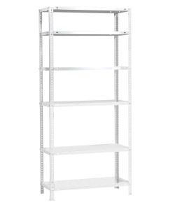 Modulo Estanteria Con 6 estantes 90x30x200 cm. Estateria con 6 Bateas. Pintado blanco.