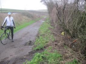 A23 cycle path crash debris mud