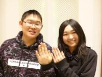 スイートブルーダイアモンドの結婚指輪をご購入(Y様・S様/足利市)