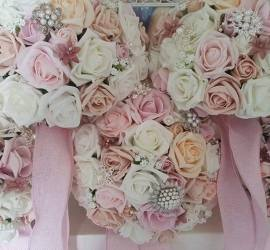 Artificial wedding flowers with brooch