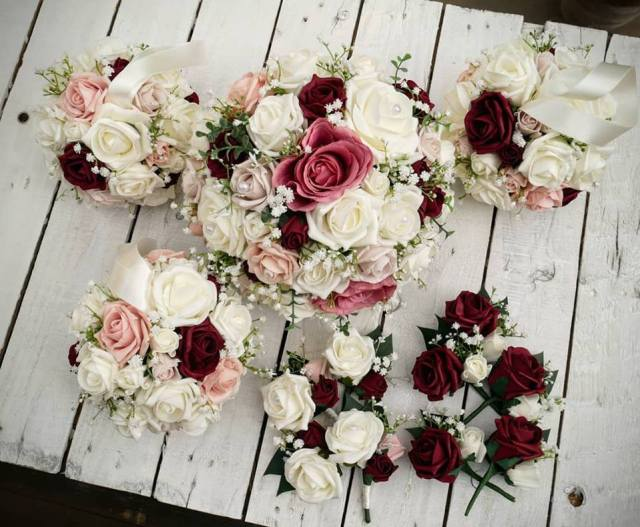 Burgundy Rose bouquet