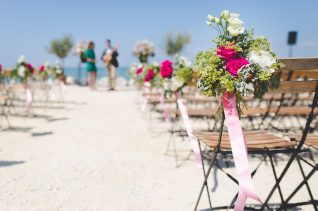 Aisle Beach Wedding Flowers