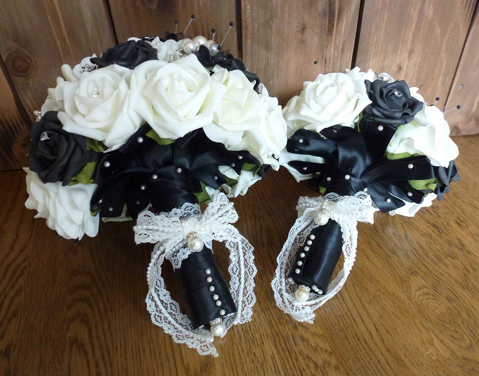 Black artificial wdding bouquets