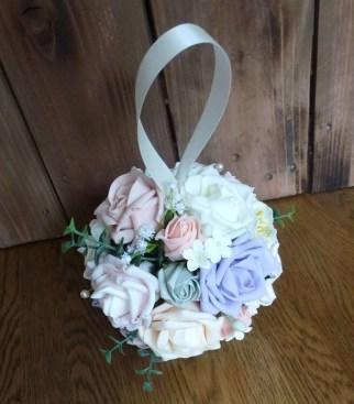 Foam flower wedding pomander