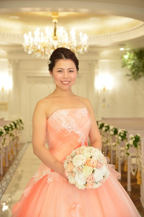 Mika wedding bouquet Japan peach