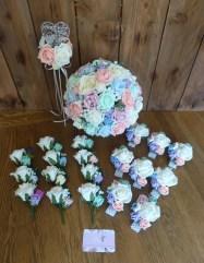 pastel mix wedding flower set