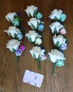 pastel mix buttonholes