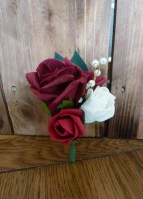 red wine buttonhole