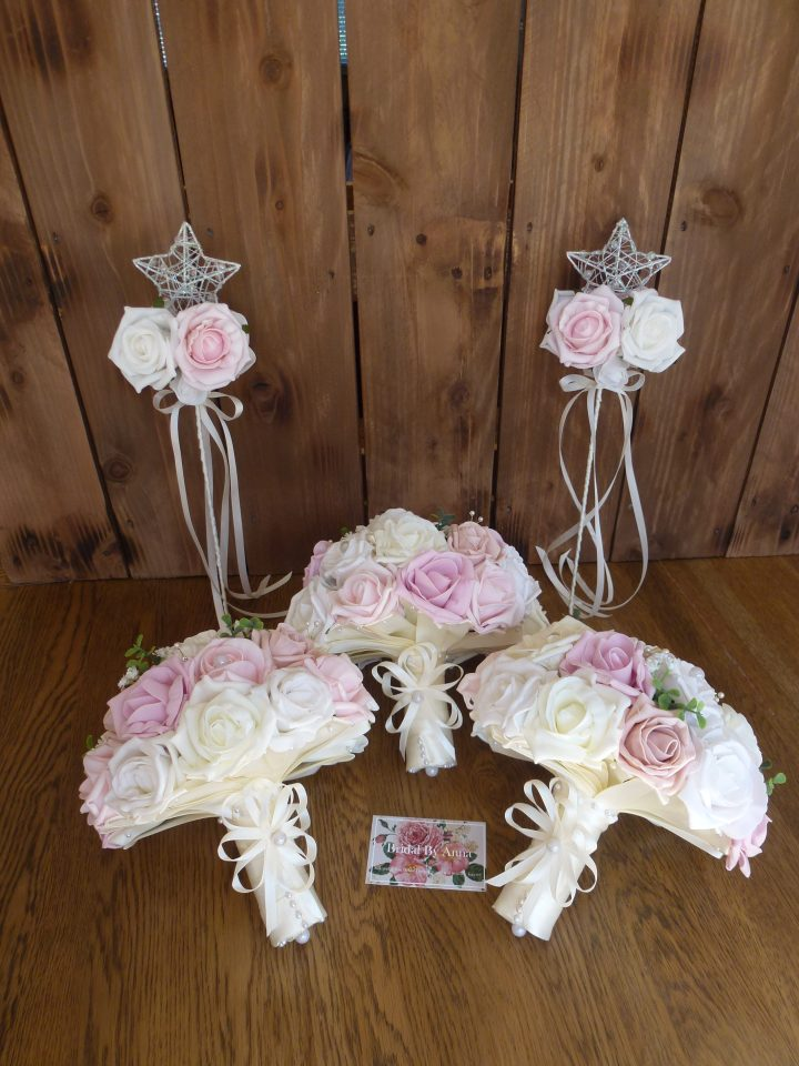 bouquet and wand set