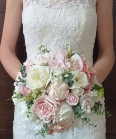 Vintage Peony and rose wedding bouquet
