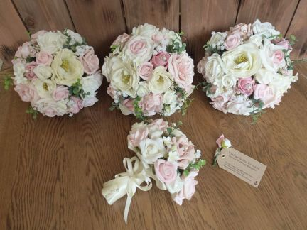 Peony vintage artificial flowers