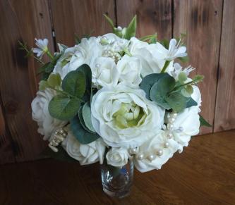 vintage Peony pearl wedding flowers
