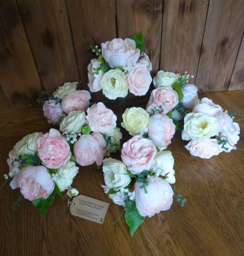 Peony table centerpieces