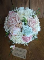 Pink and blue wedding flower