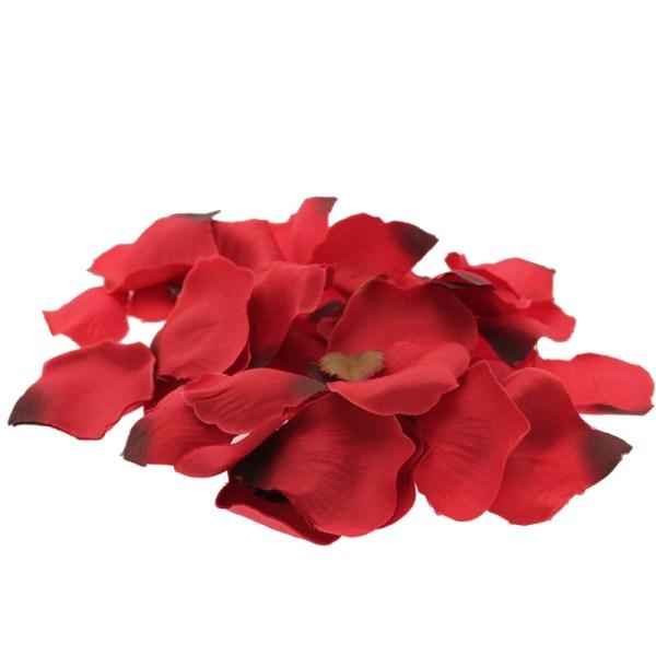 red rose silk petals