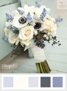 Wedding flower anemonie winter