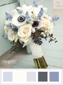 Wedding flower anemonie winter