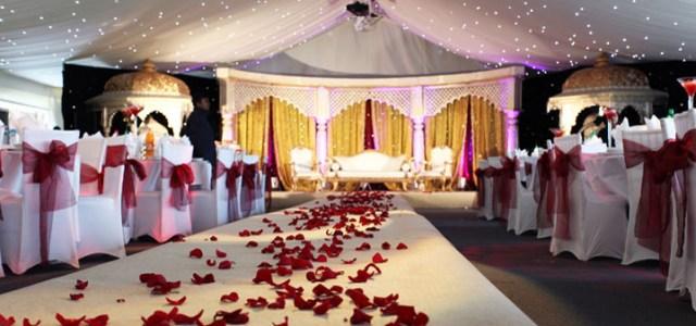 asian wedding aisle