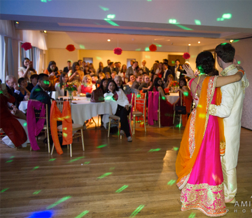asian wedding evening