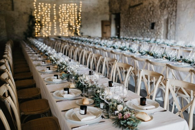 chic wedding banquet