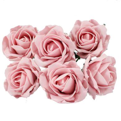 Foam Artificial Flower Vintage Pink