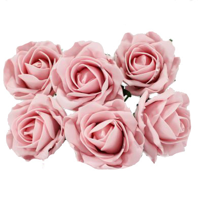 Foam Artificial Flower Vintage Pink