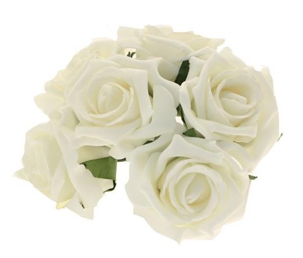 Foam Artificial Flowers Ivory Rose