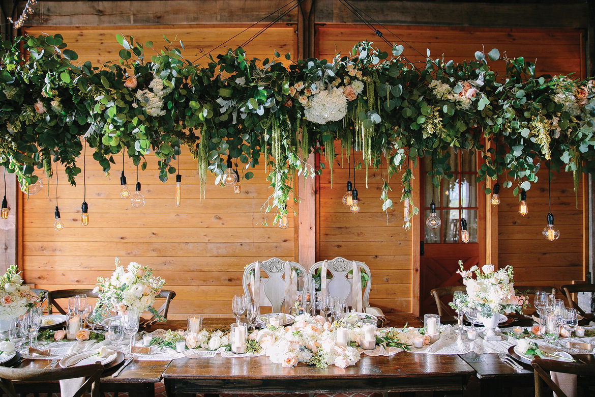 suspended centerpiece