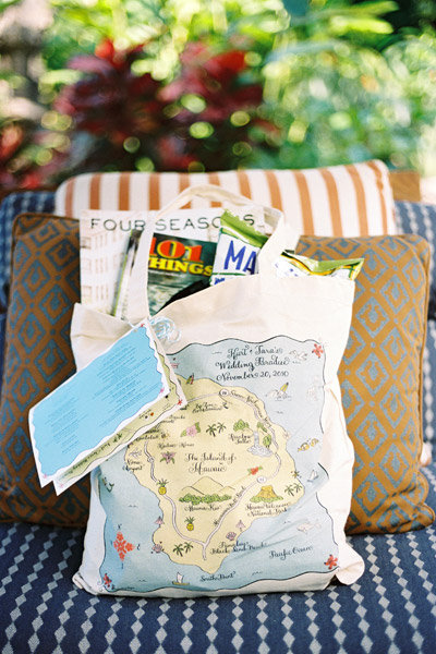 Beach Themed Wedding Welcome Bags Ideas