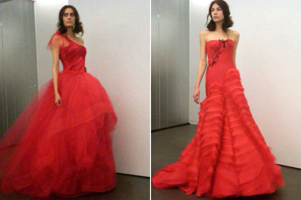 The Inside Scoop On Vera Wang's All-Red Bridal Collection