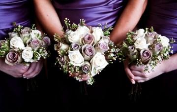 purple and white bouquet   Katherine Ashdown Photography