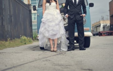 Stunning, Urban LA Trash The Dress Shoot