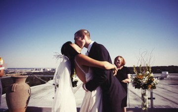 A Cool Rooftop Wedding: Heart Hair & Scrunched Up Smiles {Part 2}