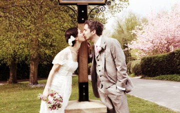 A Beautifully Eclectic, Vintage, DIY Wedding By A Lakeside