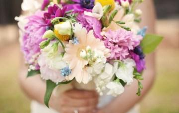 purple and peach bouquet   brett arthur photography