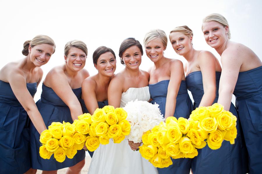 Dark Blue And Yellow Wedding: Navy And Yellow Nautical Wedding